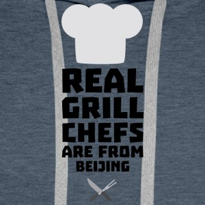 Real Grill Chefs are from Beijing Sa56a Men's Long Sleeve - Men's Premium Hoodie