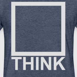 Think_light grey T-Shirts - Fitted Cotton/Poly T-Shirt by Next Level