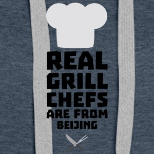 Real Grill Chefs are from Beijing Sa56a Hoodies - Women's Premium Hoodie