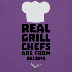 Real Grill Chefs are from Beijing Sa56a Tanks - Women's Premium Tank Top