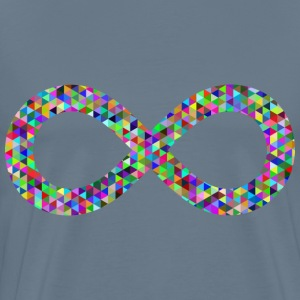 Prismatic Triangular Infinity Symbol - Men's Premium T-Shirt