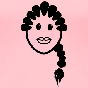 girl in braids - Women's Premium T-Shirt