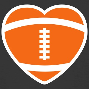 Football Rugby Heart T-Shirts - Men's 50/50 T-Shirt