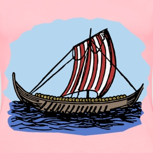 Viking Boat Colour - Women's Premium T-Shirt