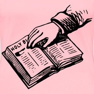 Hand on bible - Women's Premium T-Shirt