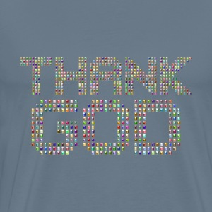 Chromatic Thank God Typography Variation 2 Enhanc - Men's Premium T-Shirt