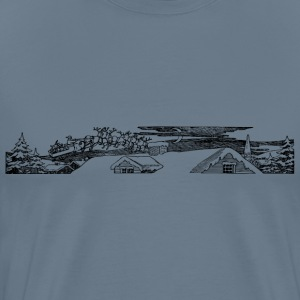Santa Above Roof - Men's Premium T-Shirt
