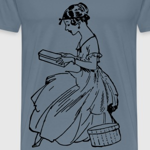 Lady with a Box - Men's Premium T-Shirt