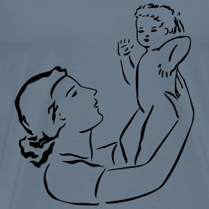 Mother Holds Baby - Men's Premium T-Shirt