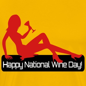 Happy National Wine Day - Men's Premium T-Shirt