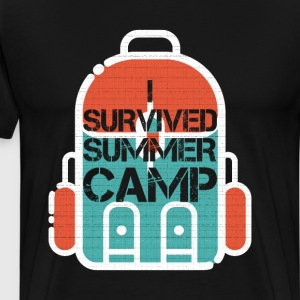 I Survived Summer Camp Survival T Shirt T-Shirts - Men's Premium T-Shirt