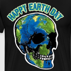 Happy Earth Day Skull T Shirt T-Shirts - Men's Premium T-Shirt