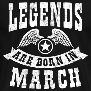 Legend Are Born in March T-Shirts - Men's Premium T-Shirt