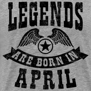 Legend Are Born in April T-Shirts - Men's Premium T-Shirt