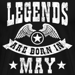 Legend Are Born in May T-Shirts - Men's Premium T-Shirt