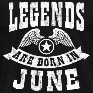 Legend Are Born in June T-Shirts - Men's Premium T-Shirt