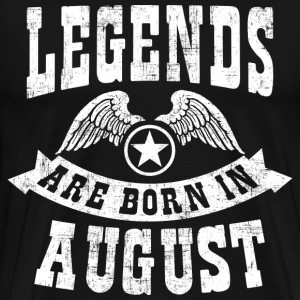 Legend Are Born in August T-Shirts - Men's Premium T-Shirt