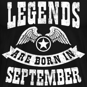Legend Are Born in Septem T-Shirts - Men's Premium T-Shirt