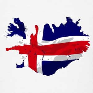 Iceland Flag Map T-Shirts - Men's T-Shirt