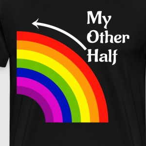 My Other Half Rainbow Left Matching T Shirt T-Shirts - Men's Premium T-Shirt