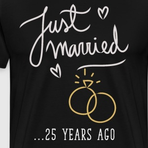 Just Married 25 Years Ago Marriage T Shirt T-Shirts - Men's Premium T-Shirt