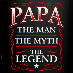 Fathers Day Shirt Papa The Man The Myth The Legend Mugs & Drinkware - Full Color Mug