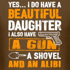 Father's Day Shirt - Daughter And Alibi T-Shirts - Men's T-Shirt