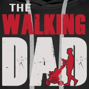 Father's Day Shirt - The Walking Dad Color Men's Long Sleeve - Men's Premium Hoodie