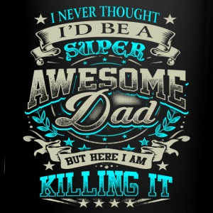 Awesome Dad Killing It Father's Day Shirt Gift Blu Mugs & Drinkware - Full Color Mug