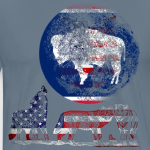 WOLF PACK WYOMING T-Shirts - Men's Premium T-Shirt