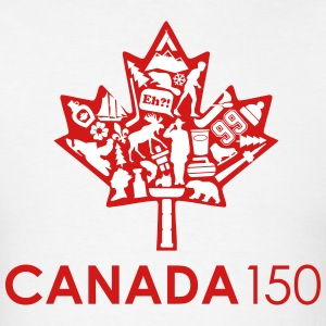 Canada 150 White - Men's T-Shirt