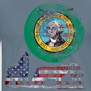 WOLF PACK WASHINGTON T-Shirts - Men's Premium T-Shirt
