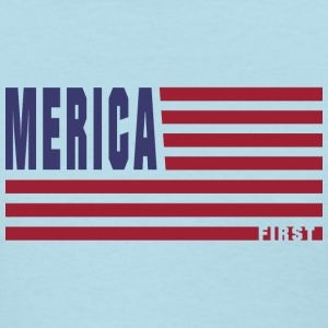 4th Of July Gift Merica First Color Clean T-Shirts - Women's T-Shirt