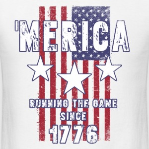 4th Of July - Merica Running The Game Since 1776 T-Shirts - Men's T-Shirt