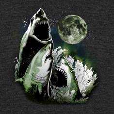 3 SHARK MOON T-Shirts
