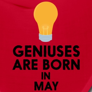 Geniuses are born in MAY Sme06 Caps - Bandana