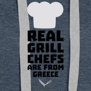 Real Grill Chefs are from Greece S75zj Hoodies - Women's Premium Hoodie