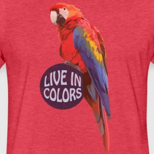 Parrot Live in colors T-Shirts - Fitted Cotton/Poly T-Shirt by Next Level