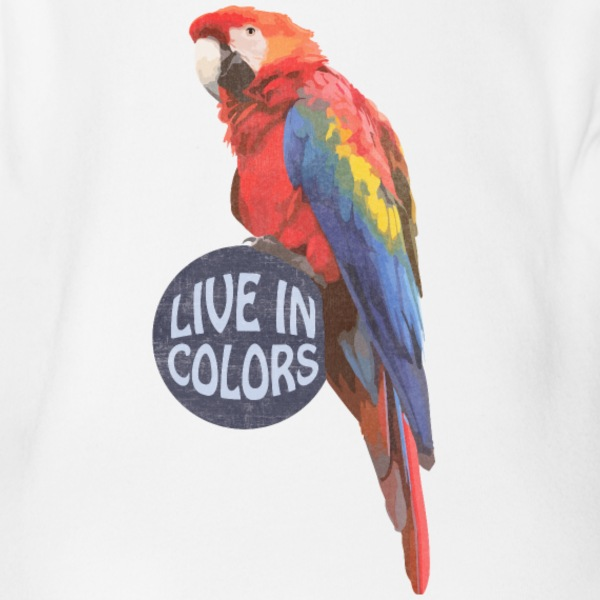 Parrot Live in colors Baby Bodysuits - Short Sleeve Baby Bodysuit
