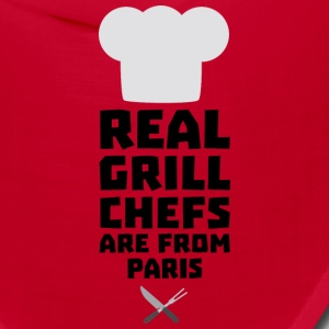 Real Grill Chefs are from Paris Sgyx4 Caps - Bandana