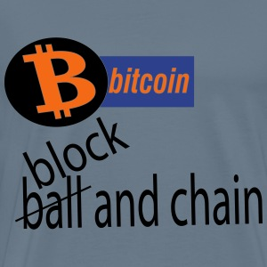 bitcoin block and chain - Men's Premium T-Shirt
