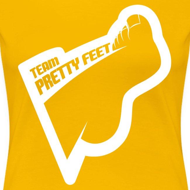 Team Pretty Feet™ White Logo Women's Premium Tee