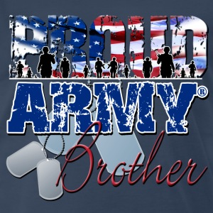 Proud Army Brother T-Shirts - Men's Premium T-Shirt