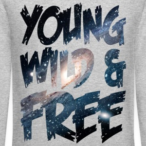Young Wild & Free Long Sleeve Shirts - Crewneck Sweatshirt