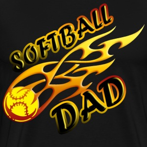 Softball Dad (flame) T-Shirts - Men's Premium T-Shirt