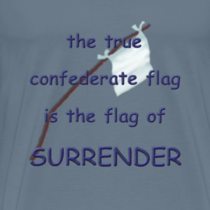 Confederate white flag - Men's Premium T-Shirt