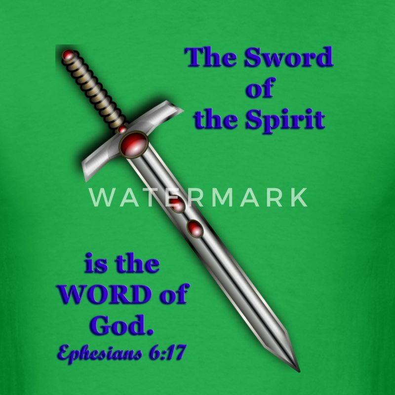 Men's Tee - The Sword of the Spirit - Men's T-Shirt