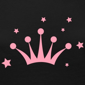 Crown with Stars Long Sleeve Shirts - Women's Premium Long Sleeve T-Shirt
