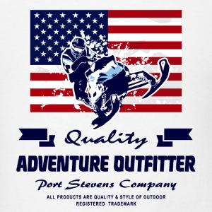 Snowmobile - USA Banner T-Shirts - Men's T-Shirt