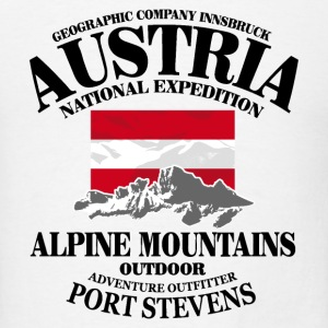Austria - Flag & Mountains T-Shirts - Men's T-Shirt